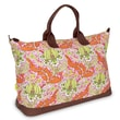 Amy Butler Meris Cotton Gym Duffel; Temple Tulips Tangerine