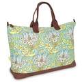 Amy Butler Meris Cotton Gym Duffel; Temple Tulips Turquoise