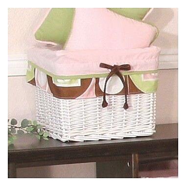 Brandee Danielle Modern Baby Girl Caffe Wicker Basket
