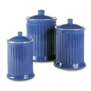 Omniware Simsbury 3 Piece Canister Set; Blue