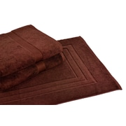 Calcot Ltd. All American Cotton Line 3 Piece Towel Set; Coffee Bean