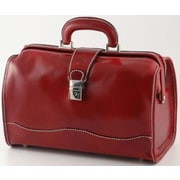 Alberto Bellucci Verona Giotto 14.75'' Leather Carry-On Duffel; Red