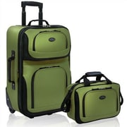 Traveler's Choice RIO Expandable 2 Pc Luggage Set; Green