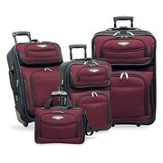Traveler's Choice Amsterdam 4 Piece Luggage Set; Red