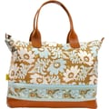 Amy Butler Marni Cotton Gym Duffel; Turquiose Fern Flower