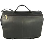 David King Leather Briefcase; Black