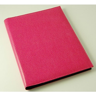 Budd Leather On the Go Pebble Grain Letter Size Pad Cover; Pink