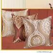 Violet Linen Milano Arts Jacquard Decorative Throw Pillow; Brown