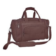 David King 13'' Leather Gym Duffel; Caf  / Dark Brown
