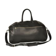 Aston Leather 24'' Leather Gym Bag; Black