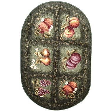 Brumlow Mills Fruited Fields Area Rug; Oval 1'8'' x 2'10''