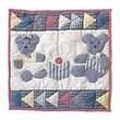 Patch Magic Blue Teddy Bear Cotton Throw Pillow