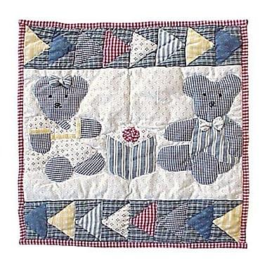 Patch Magic Teddy Bear Cotton Throw Pillow