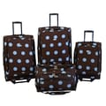 American Flyer Grande Dots 4 Piece Luggage Set; Blue