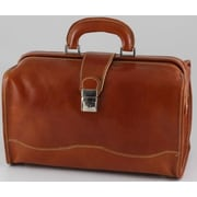 Alberto Bellucci Verona Giotto 14.75'' Leather Carry-On Duffel; Honey
