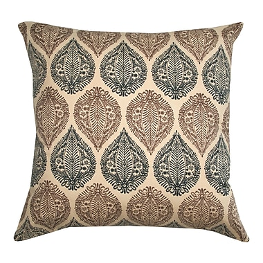 Divine Designs Kelsey Block Print Cotton Throw Pillow