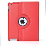 Bargain Tablet Parts iPad Air Synthetic Leather Rotating Case; Red