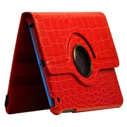 Bargain Tablet Parts Ipad Mini Crocodile Rotating Case; Red