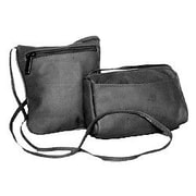David King Horiztonal Top Zip Mini Cross-Body Bag; Black