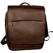 David King Large Laptop Flapover Backpack; Caf  / Dark Brown