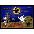 Milliken Fall Halloween Mat; 2'8'' x 3'10''