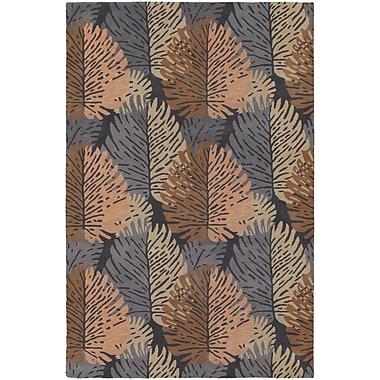 Chandra Alfred Shaheen Designer Blue/Orange Area Rug; 7'9'' x 10'6''