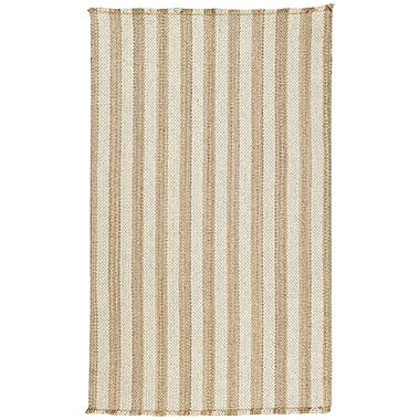 Capel Nags Head Tan/White Area Rug; 8' x 11'