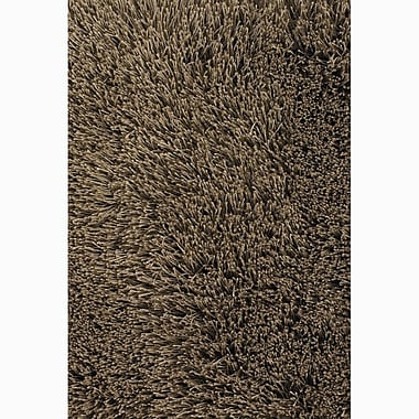 Chandra Rivera Brown Solid Area Rug; 2' x 3'