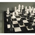 WorldWise Chess Marble Chess Set in Black / White