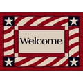 Milliken Summer Patriotic Welcome America Door Mat; 3'10'' x 5'4''