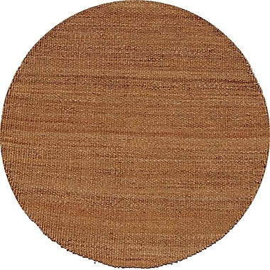Acura Rugs Jute Natural Area Rug; Round 8'