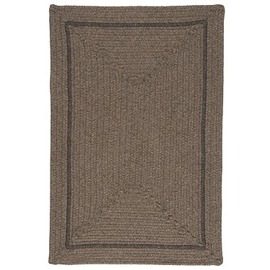 Colonial Mills Shear Natural Latte Area Rug; Square 6'