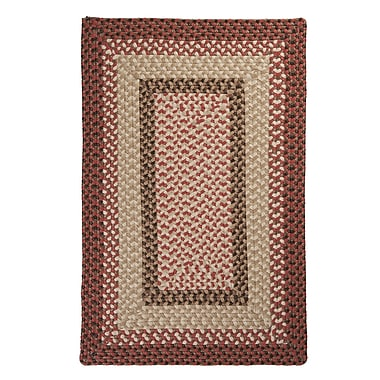 Colonial Mills Tiburon Rusted Rose Braided Indoor/Outdoor Area Rug; 3' x 5'