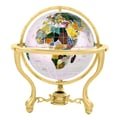 Alexander Kalifano 6'' Commander Opal Globe with Three Leg Stand in Gold