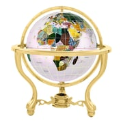 Alexander Kalifano 6'' Commander Opal Globe w/ Three Leg Stand in Gold