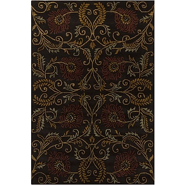 Chandra INT Brown Floral Area Rug; 7'9'' x 10'6''