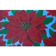 Custom Printed Rugs Holiday Poinsettia Doormat
