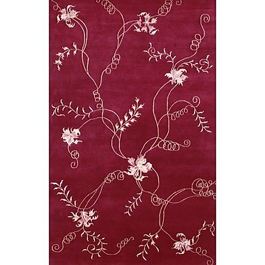 Chandra Aadi Red Area Rug; 2' x 3'