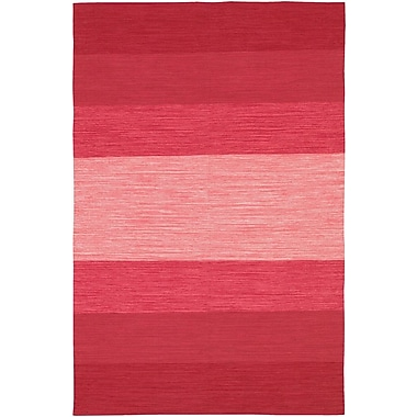 Chandra India Red Striped Area Rug; Runner 2'6'' x 7'6''