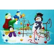 Custom Printed Rugs Holiday Snowmen Doormat