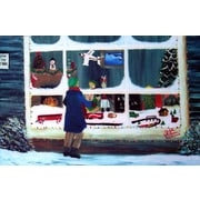Custom Printed Rugs Holiday Window Shopping Doormat