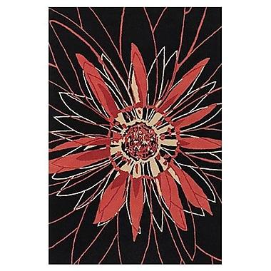 Chandra Dharma Black/Red Area Rug; 7'9'' x 10'6''
