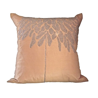 Debage Inc. Bling Coral Tree Throw Pillow; Champagne