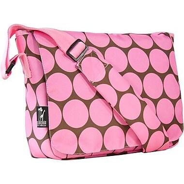 Wildkin Big Dots Kickstart Messenger Bag; Pink