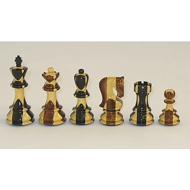Checkmate Russian Ebony Inlaid Chessmen
