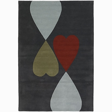 Chandra Rowe Heart Area Rug; Round 7'9''