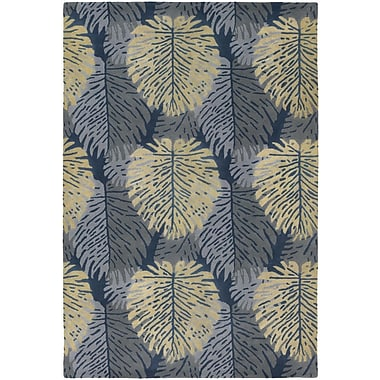 Chandra Alfred Shaheen Designer Blue/Ivory Area Rug; 5' x 7'6''
