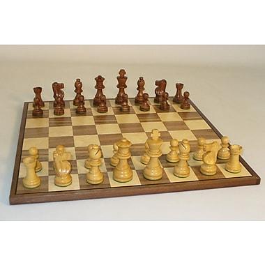 WorldWise Chess Small Sheesham French-Walnut Chess Board