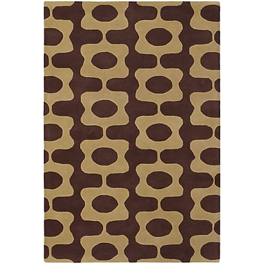 Chandra Inhabit Designer Brown/Tan Area Rug; 7'9'' x 10'6''