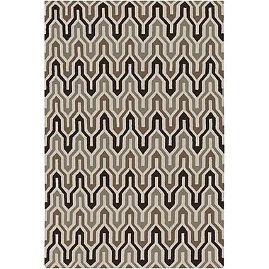 Jill Rosenwald Rugs Fallon Coffee Bean Hand-Woven Chocolate Area Rug; 8' x 11'